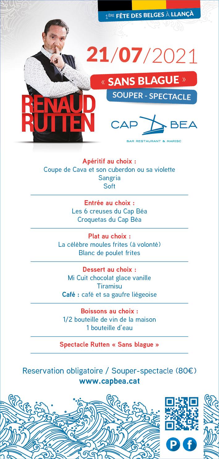 Menu Cap Bea - spectacle Renaud Rutten